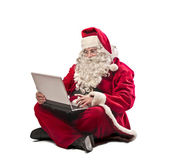Santa claus pc — Foto de Stock