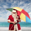 Summer Santa Claus — Stock Photo