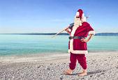 Santa claus urlaub — Stockfoto