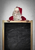 Santa Claus Blackboard — Stock Photo