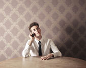 Young Man Call — Stock Photo