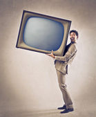 Big Television — Stock Photo