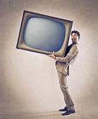 Gran televisión — Foto de Stock