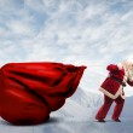 Santa Claus Presents — Stock Photo