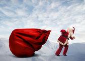 Weihnachtsmann geschenke — Stockfoto
