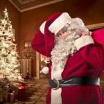 Santa Claus Visit — Stock Photo