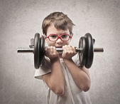 Child Dumbbell — Stock Photo