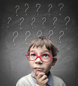çocuk şüpheler — Stok fotoğraf
