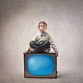 Child TV — Стоковое фото