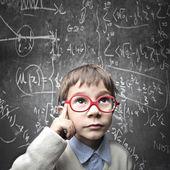 Criança científica — Foto Stock