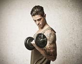 Tattooed Muscle — Stock Photo