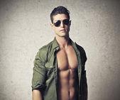 Shirtless Young Man — Stock Photo