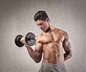 Cara muscular — Foto Stock