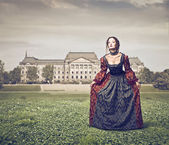 Lady eighteenth century — Stock Photo