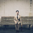 Man on the bench — Stock Photo