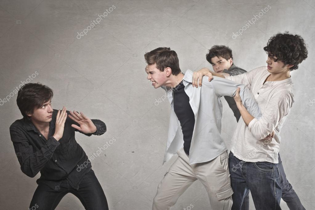 Fight between boys — Stock Photo #18474337