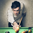 Man playing pool — Stock Photo