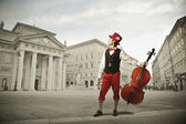 Musician with viola — Stock Photo