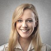 Portrait of blonde woman — Stock Photo
