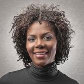 Femme portrait noir — Photo