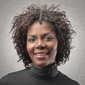 Portrait black woman — Stock Photo