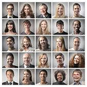 Mozaika portrétů — Stock fotografie
