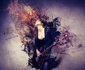 Hudebník — Stock fotografie