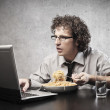 Work and eat — Stock Photo #22408633