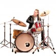 Man with the drums — Stock Photo #22872614