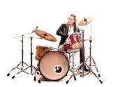 Homme avec les tambours — Photo