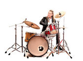 Man with the drums — Stock Photo
