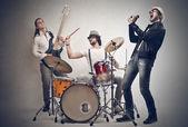 男の子バンド — ストック写真