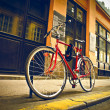 Stockfoto: Red bike
