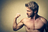 Bare-chested man — Stock Photo