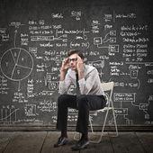 Uomo pensando — Foto Stock