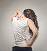 Back of a woman — Stock Photo