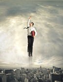 Super businessman — Stock Photo