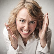 Really angry woman  — Stock Photo