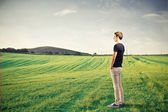 Young man staring something — Stock Photo