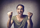 Excited man — Stock Photo