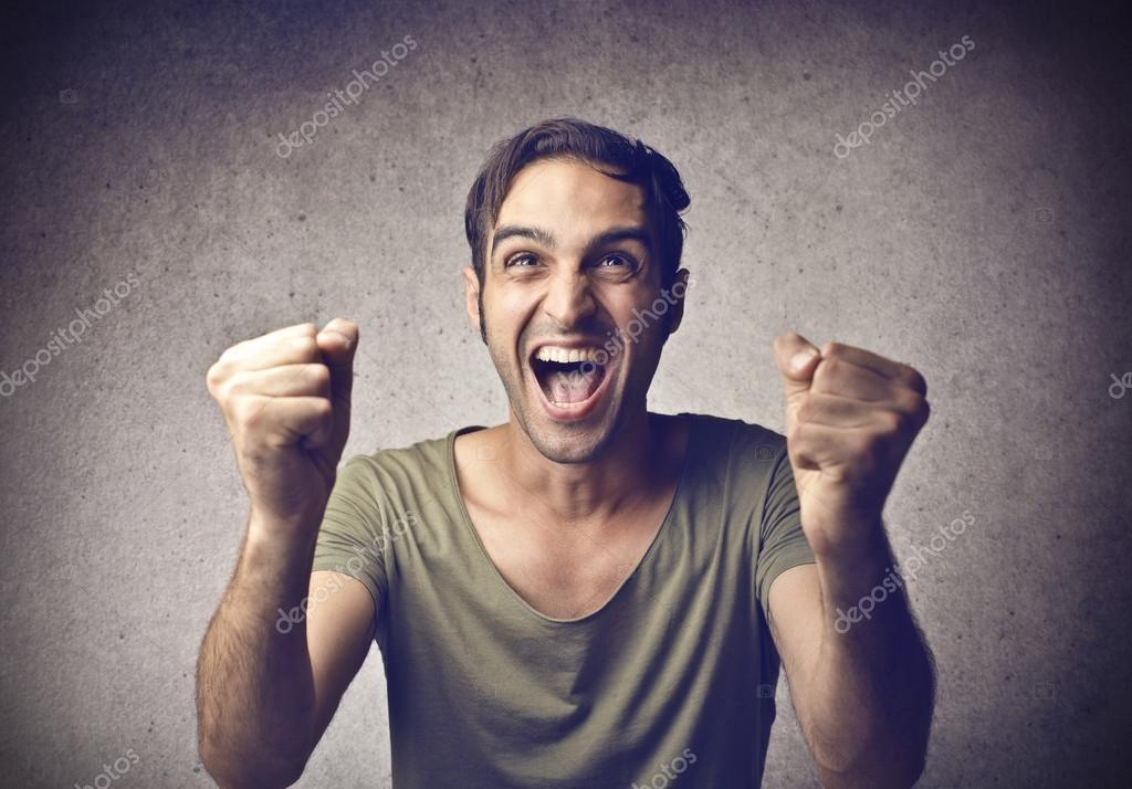 兴奋的男人 — 图库照片08olly18#30249459