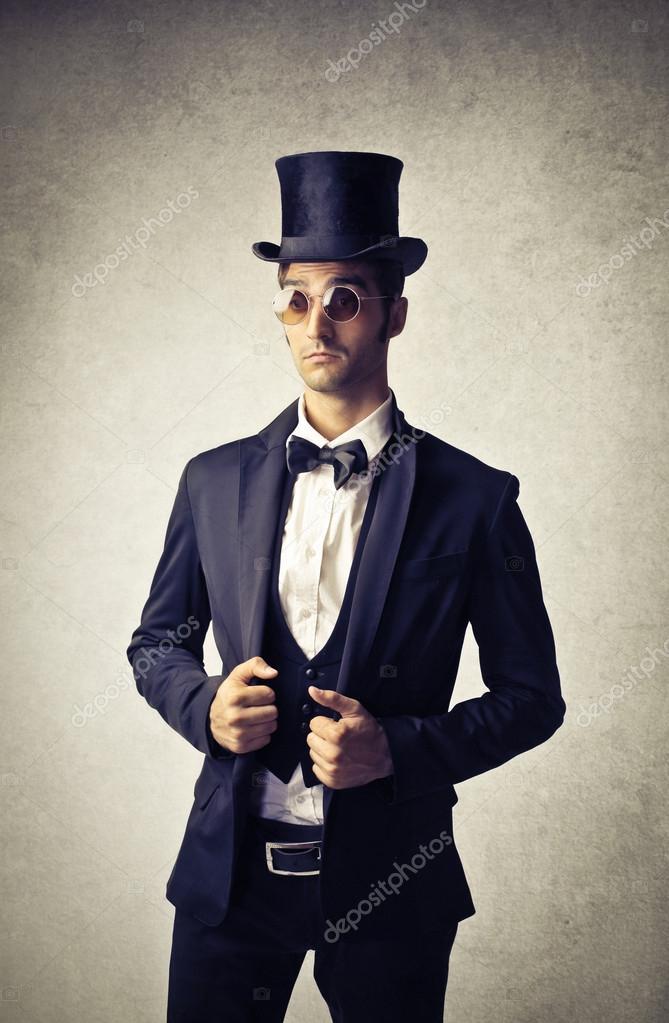 jeune homme portant des v tements vintage photographie olly18 30252091. Black Bedroom Furniture Sets. Home Design Ideas
