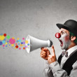 Clown shouting colors — Stock Photo #31297101