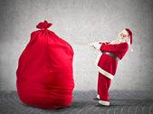 父亲圣诞节举行一根绳子 — 图库照片