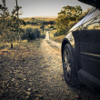 Car on a path — Stock Photo