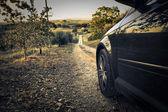 Car on a path — Stock Photo