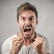 Angry shouting man — Stock Photo