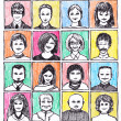 Hand drawn of different people — Lizenzfreies Foto