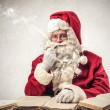 Santa klaus thinking hard  — Stock Photo