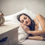 Woman sleeping peacefully — Stock Photo